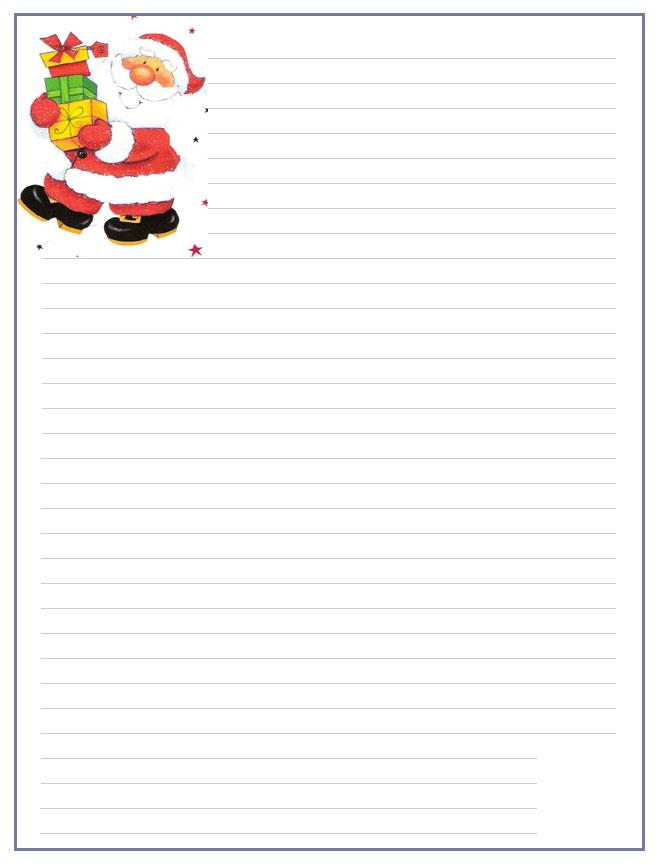 Papier a lettre page 2 - Lettre de noel a imprimer ...